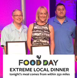Mike Laux, Christina Voyles, and Chef Martinez accept the Loyal E Horton grand prize award